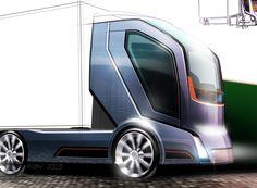 Futuristic Truck, Future Vehicle, Volvo-Concept-Truck-2020