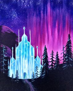 Paint Nite. Frosted Lights