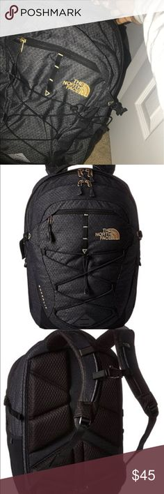 The North Face Borenalis Backpack/Bookpack. Black and Gold North Face Bag. Condition 10/10. Offer can be negotiable just make a offer. The North Face Bags Backpacks