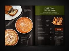 RAGU cafe | Identity | elements | menu on Behance Food Magazine Layout, Magazine Layout Design, Food To Go, Food And Drink, Restaurant Menu Design, Coffee To Go, Drink Menu, Food Photography, Oatmeal