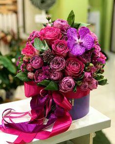 Ideas Flowers Spring Bouquet Floral Arrangements Simple For 2019 Amazing Flowers, Beautiful Roses, Beautiful Flowers, Simple Flowers, Flower Arrangements Simple, Gift Bouquet, Spring Bouquet, Arte Floral, Flower Boxes
