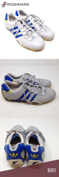 Adidas Goodyear Adi Racer Driving Athletic shoes Adidas Goodyear Men s  Shoes Adi Racer Blue Yellow Gray 207e56f4fd7c8