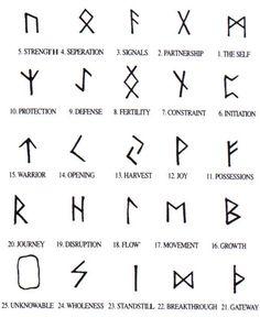Runes. Magic.