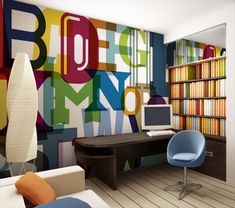 beach murals for kids rooms | One option for wall décor is Tella® peel & stick wall murals. They ...