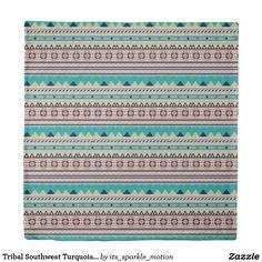 Tribal Southwest Turquoise Geometric Pattern Duvet Cover