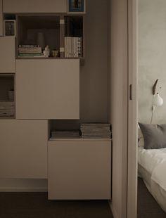 Bookshelves in Apartment Vasatan in Stockholm by Imberg Arkitekter | Remodelista