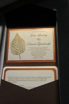 DIY wedding invitations Fall themed | Josie Liming Photography
