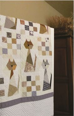 (7) Name: 'Quilting : Scrappy Cat Quilt Pattern. xxx