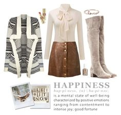 """Happiness"" by nordicstyle ❤ liked on Polyvore featuring Gianvito Rossi, VILA, Veronica Beard, Sydney Evan, Yves Saint Laurent, Essie, women's clothing, women, female and woman"