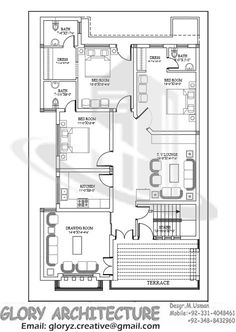 House Plan for 21 Feet by 50 Feet plot Plot Size 117 Square Yards