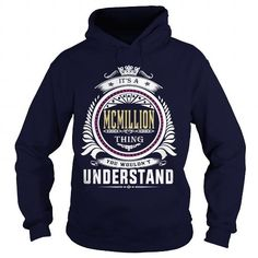 Cool  mcmillion  Its a mcmillion Thing You Wouldnt Understand  T Shirt Hoodie Hoodies YearName Birthday T-Shirts