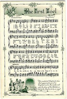 Free Christmas sheet music for scrapping