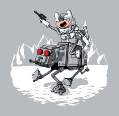 What time is it? It's Battle of Hoth time! Adventure Time / Star Wars mash-up Adventure Time Cartoon, Land Of Ooo, Jake The Dogs, Geek Art, Cartoon Network, Pop Culture, Avengers, Illustration Art, Illustrations