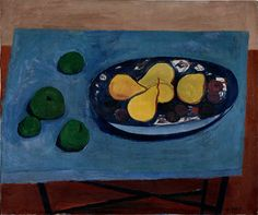 William Scott, Still Life with Pears, 1948, Oil on canvas, 55.2 × 66.1 cm / 21¾ × 26 in, Private collection