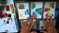 Gelli® Plate Print Transfers for making Mail Art! #gelliprinting