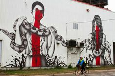 "Street art   Mural ""The Serpenteens"" (Minneapolis, USA) by Fin DAC and Angelina Christina"
