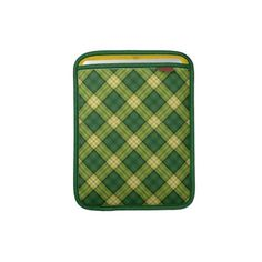 #sleeves #ipadsleeves #scottish #tartan #green #zazzle #elenaindolfi A skinny sleeve with super protection – meet the Rickshaw iPad and laptop sleeve! Designed with rugged Cordura® nylon and an ultra-plush padded liner, this sleeve delivers great protection while beautifully displaying scottish design. Handmade in California with a focus on environmentally sustainable production,  it's a simple, stylish, and sustainable solution for protecting your electronic devices.