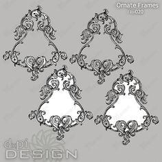 Digital Ornate Frames for Labels Clip Art by DxpiDesign