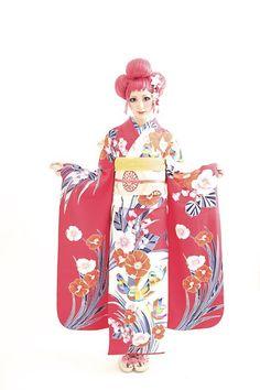 ダリのレンタル振袖 おしどりさんの華やかなお着物の画像 | ダリヘアデザイン 高島の靭公園から徒然と