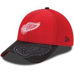 Detroit Red Wings New Era Logo Crop Neo 39THIRTY Flex Hat - Red/Black - $20.99