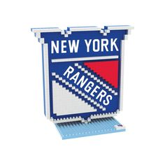 Forever Collectibles New York Rangers Brxlz 3D Logo Puzzle Set, Multicolor
