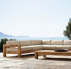 Leather Sectional Sofas for Modern Living Room - Email Blasts - Ideas of Email Blasts - Colorado Sectional from RH email blast Outdoor Sofa, Outdoor Living, Outdoor Decor, Small Sectional Sofa, Leather Sectional Sofas, Diy Furniture Couch, Outdoor Furniture, Sofa Area Externa, Wooden Sofa Designs