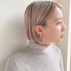 ミニマムボブ×ハイトーンベージュ in 2020 Girl Short Hair, Short Hair Cuts, Short Hair Styles, Hair Inspo, Hair Inspiration, Korean Short Hair, G Hair, Hair Arrange, Hair Images