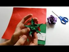 """If you are surfing for """"How to make Origami Narcissus Flower"""", you are watching the right video. Within this """"Origami Flower Tutorial"""" video, you are going t. Origami And Kirigami, Origami Ball, Origami Rose, Origami Stars, Origami Paper, Origami Instructions, Origami Tutorial, Origami Leaves, Origami Diagrams"""