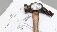 Rare PETERS January 22, 1878 Patent WHITCHER NO. 2Lasting Hammer