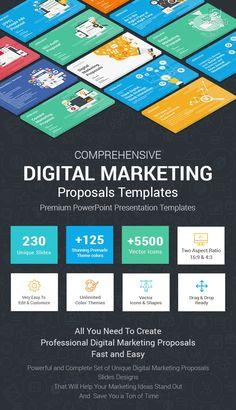 Best Digital Marketing Proposals PowerPoint Templates Online Marketing Strategies, Digital Marketing Services, Marketing Proposal, Web Design Icon, Network Icon, Education Icon, Proposal Templates, Powerpoint Presentation Templates, Proposals