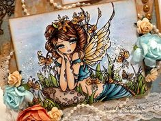 "Crafts and Me Stamps ""Glacier Lily Fairy"" Mushroom Fae Digi Stamp HannahLynn.com"