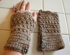 Hot Cross Wrist Warmers