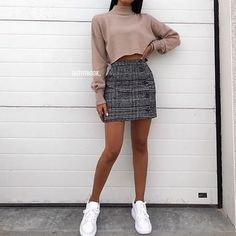 Pin by 🌻 bear jorge 🌻 on appearel in 2019 outfit stile, outfit ideen, läs Cute Skirt Outfits, Komplette Outfits, Cute Winter Outfits, Cute Skirts, Mini Skirts, Winter Skirt Outfit, Autumn Outfits, Outfit With Skirt, Outfits For Spring