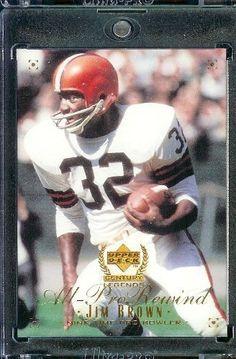 a8fe2c04fe1 1999 Upper Deck Century Legends   108 Jim Brown Cleveland Browns Football  Card- Mint by Upper Deck.  4.88. 1999 Upper Deck Century Legends   108 Jim  Brown ...