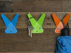 These wall hooks for kids, discovered by The Grommet, are fun wall hooks that look like animals. Each hook's ears make a great hanging spot. Like Animals, New Gadgets, Innovation Design, Wall Hooks, Cool Things To Buy, Crafts For Kids, Gifts, Cat, Wall Accents