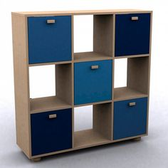 Wayfair using indigo in a children's book case here as a colour that will last. This is a great way to brighten up plain wooden furniture.