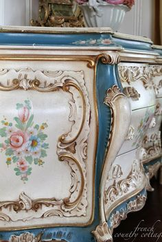 FRENCH COUNTRY COTTAGE: Floral sideboard~ favorite things