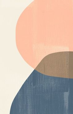 Blush Pink Mid Century Modern Prints Set, Light Pink Geometric Art Set, Light Brown Art Prints, Navy Abstract Shapes Prints, Ovals Wall Art - All For Herbs And Plants Colorful Abstract Art, Abstract Shapes, Geometric Art, Indigo, Modern Art Prints, Modern Wall Art, Design Art, Web Design, Design Ideas