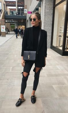 all black outfit casual - Outfits ta Black Women Fashion, Look Fashion, Winter Fashion, Womens Fashion, Fashion 2020, Fashion Online, High Fashion, Mode Outfits, Casual Outfits