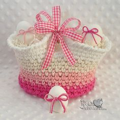 FREE PATTERN! Ravelry: Simply Pampered Basket pattern by The Hooked Haberdasher. FP 3/15