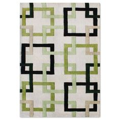 Find it at the Foundary - Beverly Hills Beige/Green/Black Rug - 5 x 8 ft. use 2, 3 or 4.
