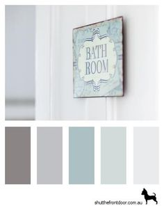 Potential colour palette for downstairs bathroom. More neutral