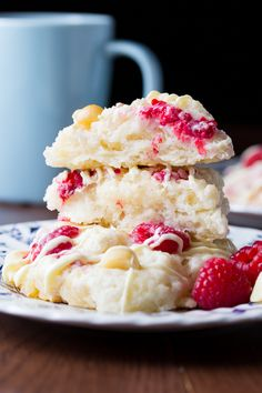 RASPBERRY, MACADAMIA NUT AND WHITE CHOCOLATE SCONES