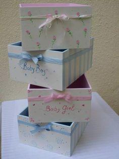 caja organizadora multiuso para bebé, madera pintada a mano! Cute Baby Shower Gifts, Baby Boy Gifts, Kit Natura, Baby Shower Baskets, Kit Bebe, Balloon Flowers, Decoupage Art, Baby Kit, Pink Owl