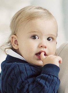 Prince Alexander, 9 octobre 2017, Photo officielle publiée en remerciement aux messages de félicitations reçus pour la naissance du prince Gabriel