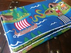 Rune has to have this!!!!!!!!!!!!!!!!!!!! Viking Baby Burp Cloth Set of 2 Nordic Viking by ZhalaClothing, $15.00