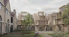 Niall McLaughlin Architects' design for the West Quadrangle of St Cross College Oxford College, Architects, Multi Story Building, How To Plan, Landscape, House, Design, Style, Scenery
