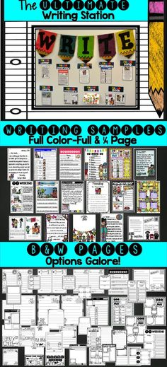 This 185 page Ultimate Writing Station is absolutely LOADED with all kinds of new writing stations that are hard to find. This 185 page Ultimate Writing Station is absolutely LOADED with all kinds of new writing stations that are hard to find. Kindergarten Writing, Teaching Writing, Teaching Ideas, Teaching English, Writing Resources, Writing Activities, Writing Ideas, Writing Lessons, School Fun