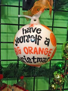 Have yourself a BIG ORANGE Christmas