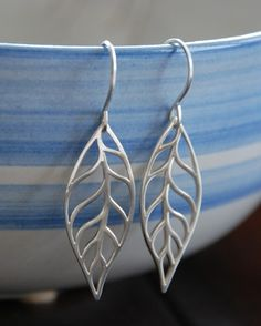 Large silver leaf pendants and sterling silver ear wires leaf earrings sterling silver leaf charms large sterling silver leaf pendants and sterling silver ear wires mozeypictures Image collections